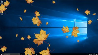 Autumn Leaves Screen Saver Desktop View