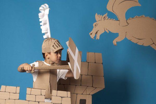 Kid Knight vs Paper Dragon