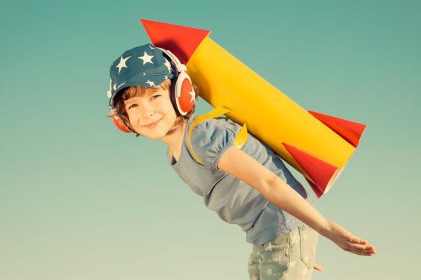 Kids rocket powered fun