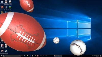 American Football and Baseballs
